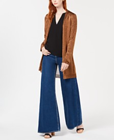 Bar III Shine Duster Sweater Cardigan, Created for Macy's