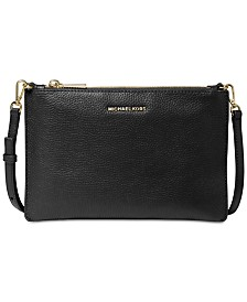 MICHAEL Michael Kors Pebble Leather Double Pouch Crossbody
