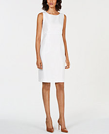 Kasper Petite Embellished Sheath Dress