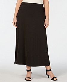 Plus Size A-Line Maxi Skirt
