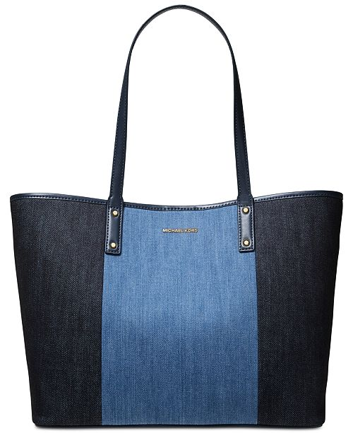 18cf8cc2c7e1 ... Michael Kors Carter Denim Open Tote