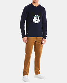 Lacoste Men's Limited Edition Mickey Mouse Regular-Fit Wool Sweater, Created for Macy's