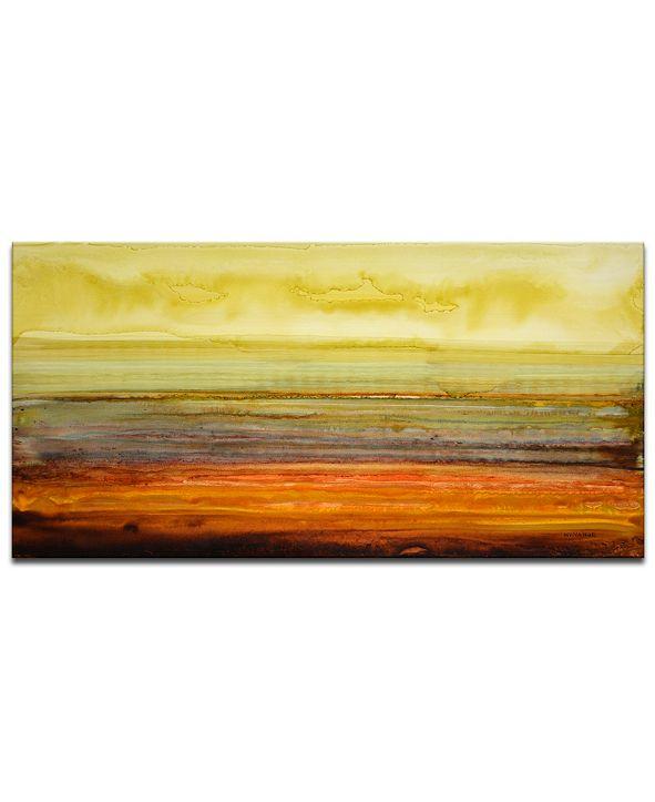 "Ready2HangArt 'Amber Horizon' Canvas Wall Art, 18x36"""