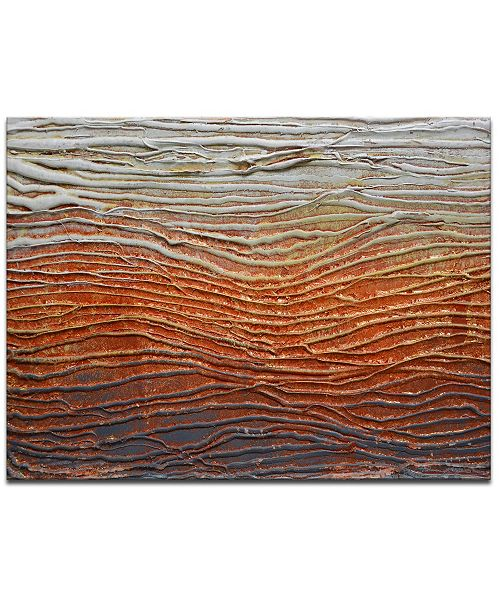 """Ready2HangArt 'Broil' Anstract Canvas Wall Art, 20x30"""""""