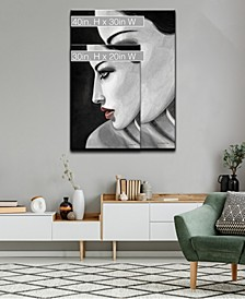 'Temptation III' Side Profile Canvas Wall Art Collection