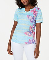 0321ca3b13e Alfred Dunner Butterfly Effect Embellished T-Shirt