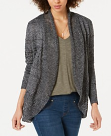 Style & Co Open-Front Pointelle Cardigan, Created for Macy's