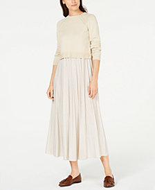 Weekend Max Mara Mixed-Media Sweater Dress