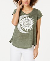 2d82dbc3b44b36 Style   Co Petite Scoop-Neck Graphic T-Shirt