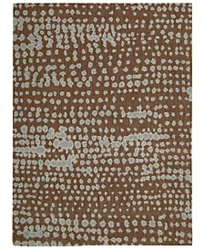 "CLOSEOUT! Home Area Rug, CK11 Loom Select Neutrals LS14 Diffused Lines Earth 5'6"" x 7'5"""