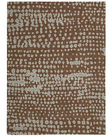 """CLOSEOUT! Calvin Klein Home Area Rug, CK11 Loom Select Neutrals LS14 Diffused Lines Earth 5'6"""" x 7'5"""""""