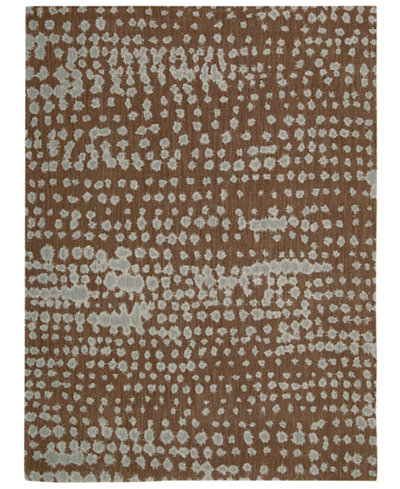 CLOSEOUT! Calvin Klein Home Area Rug, CK11 Loom Select Neutrals LS14 Diffused Lines Earth 5'6
