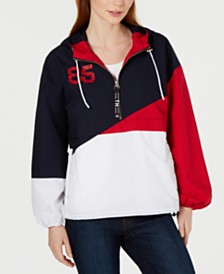 Tommy Hilfiger Cotton Colorblocked Windbreaker, Created for Macy's