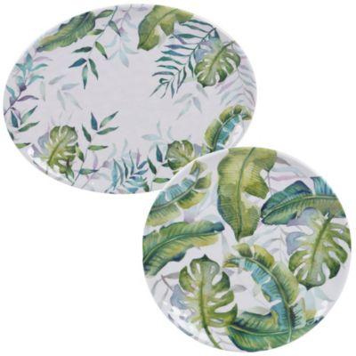 Melamine Tropicana 2-Pc. Platter Set