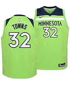 Nike Karl-Anthony Towns Minnesota Timberwolves Statement Swingman Jersey, Big Boys (8-20)