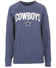 Authentic NFL Apparel Women's Dallas Cowboys Colba Crew Neck Pullover Sweatshirt
