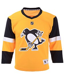 Authentic NHL Apparel Pittsburgh Penguins Alternate Blank Replica Jersey, Big Boys (8-20)