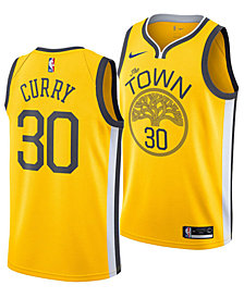 Nike Men's Stephen Curry Golden State Warriors Earned Edition Swingman Jersey