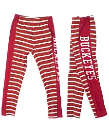 Authentic NCAA Apparel Ohio State Buckeyes Striped Leggings, Toddler Girls (2T-4T)
