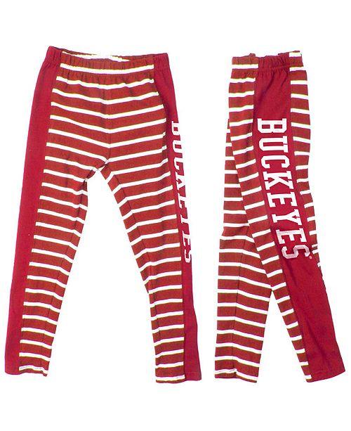 e404e42c02b97 Authentic NCAA Apparel Ohio State Buckeyes Striped Leggings, Toddler Girls  (2T-4T)