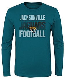 Outerstuff Jacksonville Jaguars Light Streaks Long Sleeve T-Shirt, Big Boys (8-20)