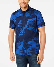 Levi's® Men's Mozell Palm-Print Poplin Shirt