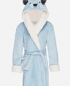 Kids Hooded Fleece Sherpa Robe, Small