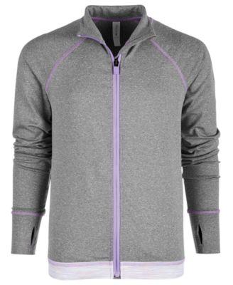 Big Girls Printed-Hem Zip-Up Jacket, Created for Macy's