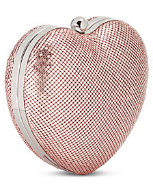 I.N.C. Semra Heart Clutch, Created for Macy's