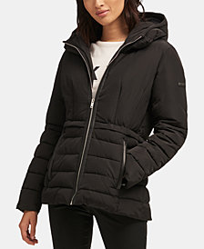 DKNY Mixed-Media Puffer Jacket, Created for Macy's