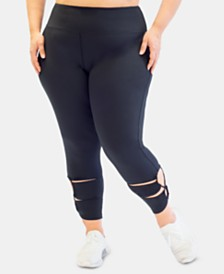 Nanette Lepore Play Plus Size Active Leggings, Created for Macy's
