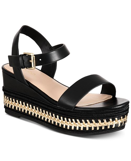 e1fadc8a4a5d ALDO Mauma Wedge Sandals   Reviews - Sandals   Flip Flops - Shoes ...