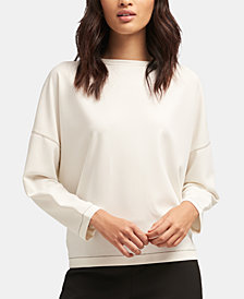 DKNY Contrast-Stitching Top, Created for Macy's
