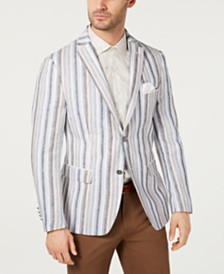 Tallia Men's Slim-Fit Stripe Linen Sport Coat