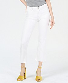 Lucy Cropped Frayed-Hem Jeans