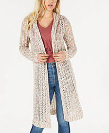 American Rag Juniors' Hooded Cardigan, Created for Macy's