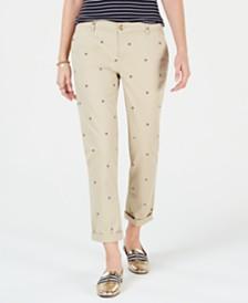 Tommy Hilfiger Logo Straight-Leg Pants