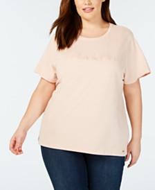 Calvin Klein Plus Size Embossed-Logo T-Shirt