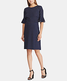 Lauren Ralph Lauren Printed Flutter-Sleeve Dress