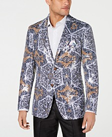Men's Slim-Fit Abstract Sequin Dinner Jacket