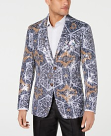Tallia Men's Slim-Fit Abstract Sequin Dinner Jacket