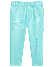 First Impressions Baby Girls Raw-Edge Rip & Repair Jeans, Created for Macy's