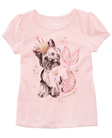 Epic Threads Toddler Girls Yorkie Mermaid-Print T-Shirt, Created for Macy's