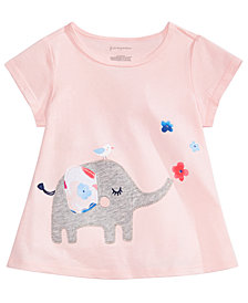 First Impressions Baby Girls Elephant Graphic T-Shirt, Created for Macy's