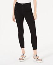 d53a030965b Vanilla Star Juniors' Ripped Black High-Rise Skinny Jeans