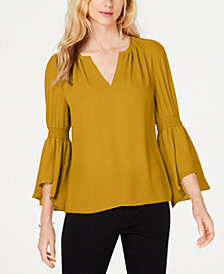 I.N.C. Smocked Bell-Sleeve Top, Created for Macy's