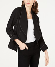 I.N.C. Contrast-Stitch Jacket, Created for Macy's