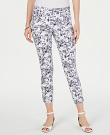 Charter Club Tummy-Control Printed Skinny Jeans, Created for Macy's