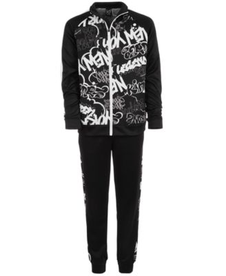 Big Boys Graffiti-Print Jacket, Created for Macy's