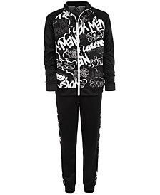 Ideology Big Boys Graffiti-Print Jacket & Jogger Pants, Created for Macy's